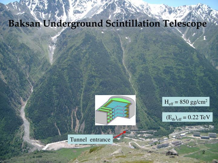 Baksan Underground Scintillation Telescope
