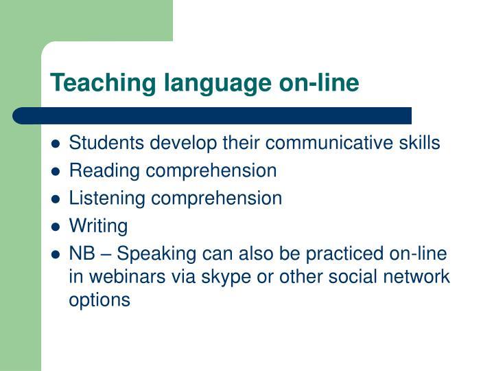 Teaching language on-line