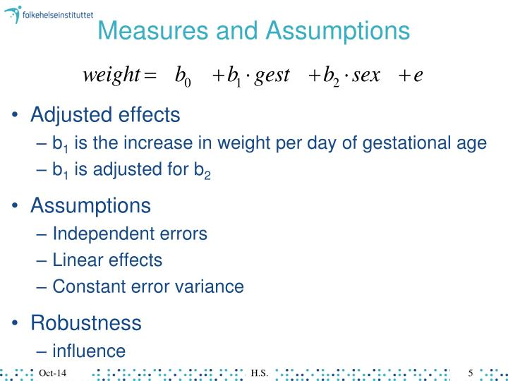 Measures and Assumptions