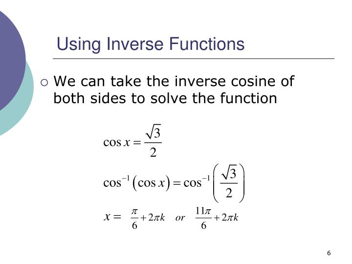 Using Inverse Functions
