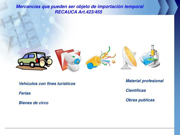 Mercancías que pueden ser objeto de importación temporal