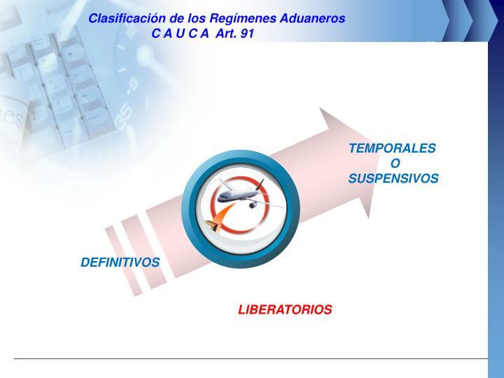 Clasificación de los Regímenes Aduaneros