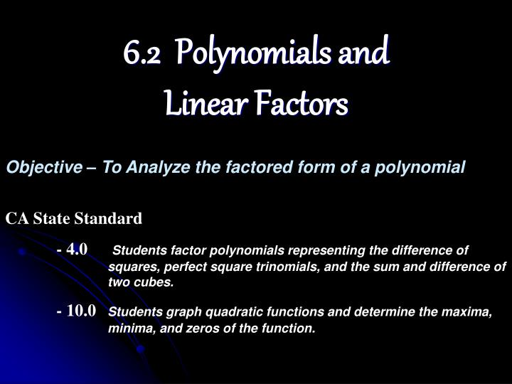 6.2  Polynomials and
