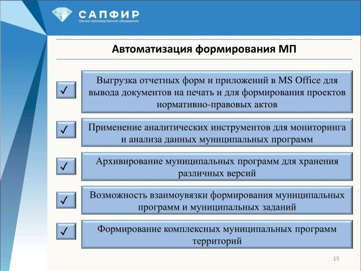 Выгрузка отчетных форм и приложений в