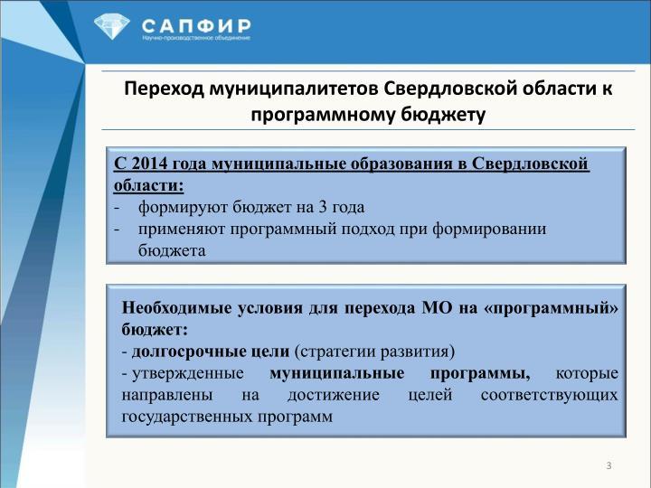 С 2014 года муниципальные образования в Свердловской области: