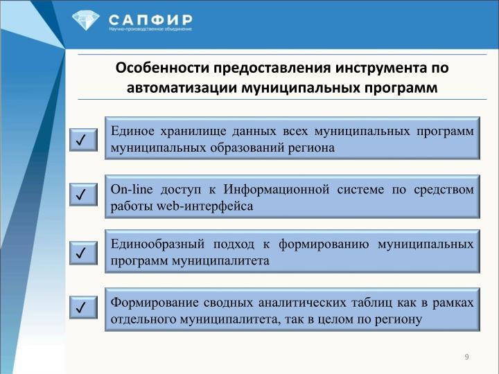 Единое хранилище данных всех муниципальных программ муниципальных образований региона