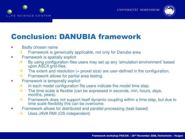 Conclusion: DANUBIA framework