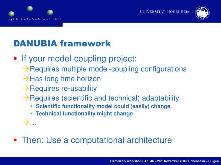 DANUBIA framework