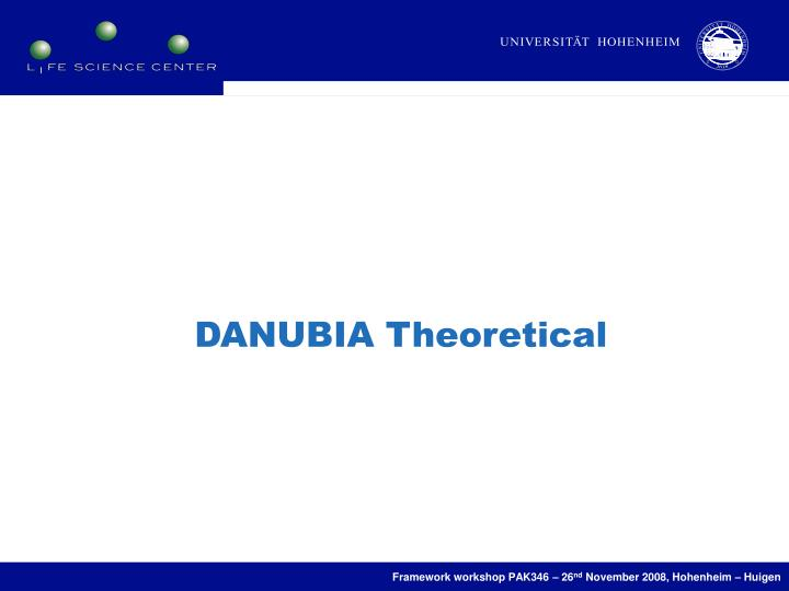 DANUBIA Theoretical