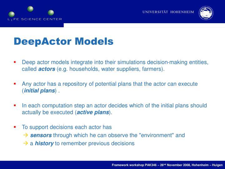 DeepActor Models