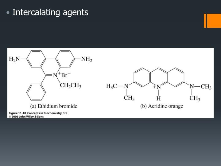 Intercalating agents