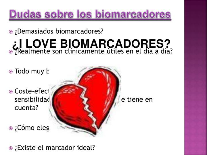 Dudas sobre los biomarcadores