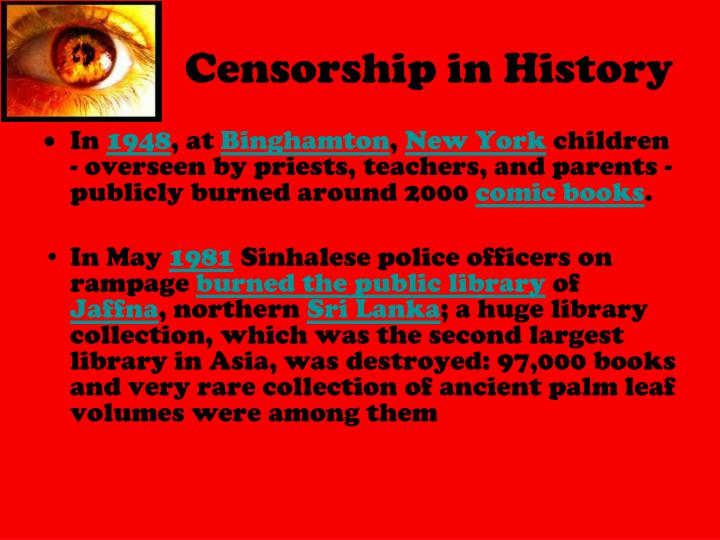 Censorship in History