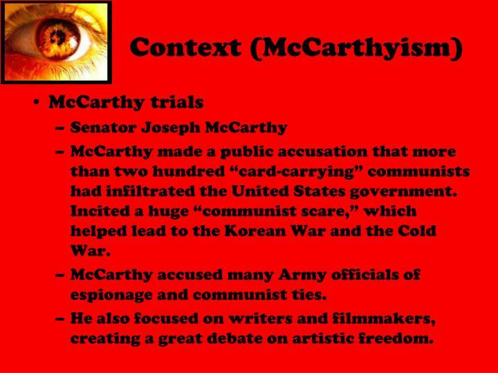 Context (McCarthyism)