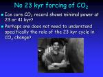 no 23 kyr forcing of co 2