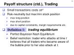 payoff structure ctd trading