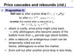 price cascades and rebounds ctd