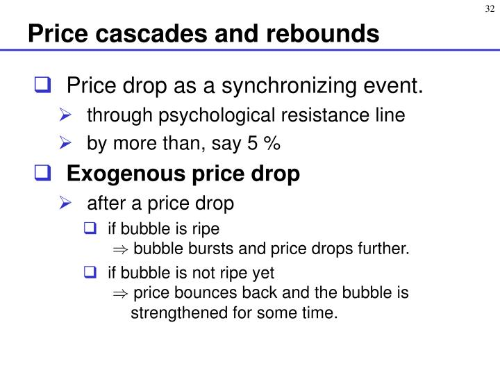 Price cascades and rebounds