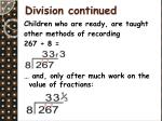 division continued