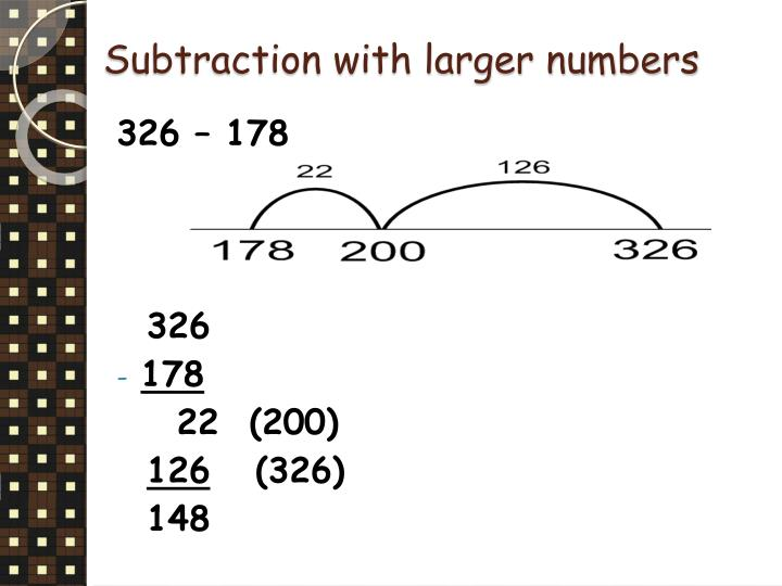 Subtraction with larger numbers