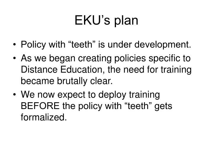 EKU's plan