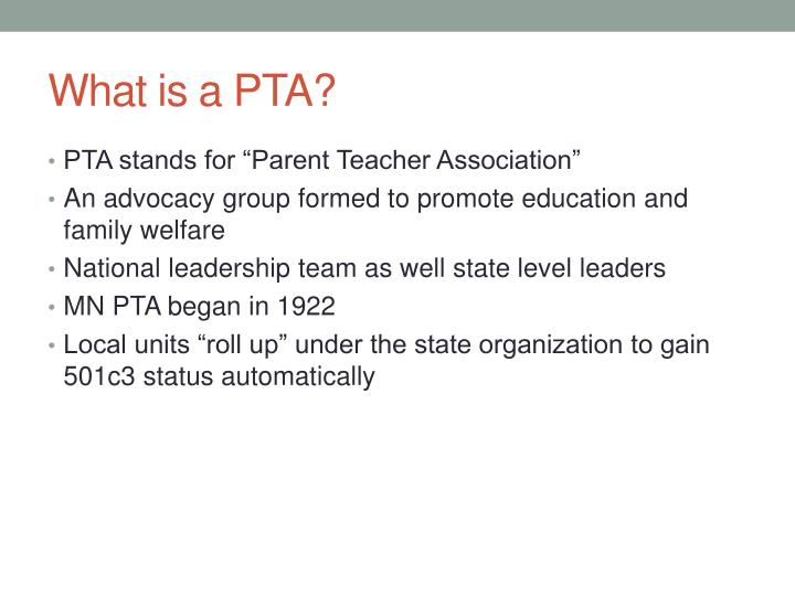 What is a PTA?