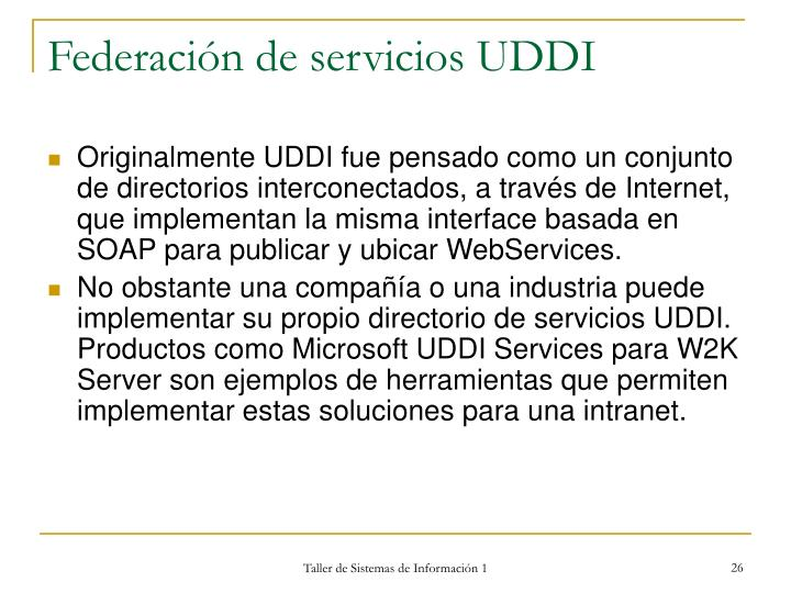 Federación de servicios UDDI