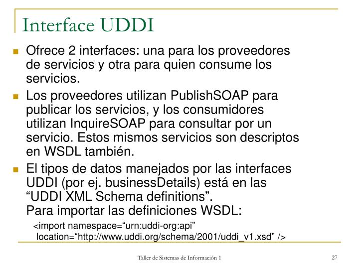Interface UDDI