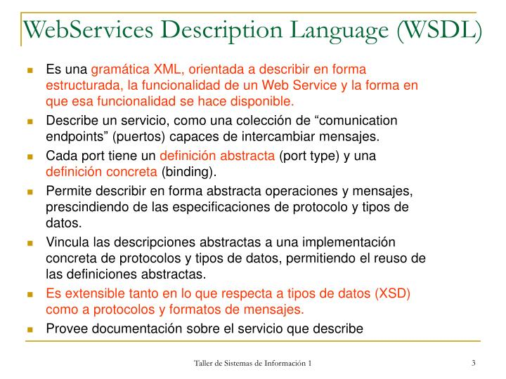Webservices description language wsdl