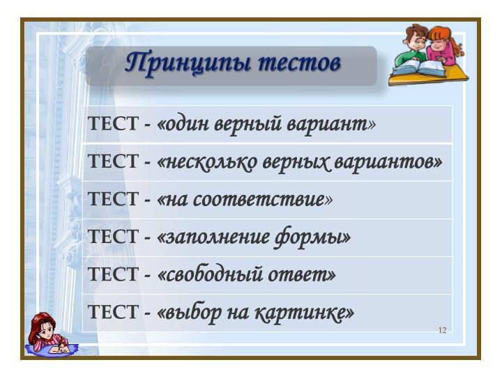 Принципы тестов