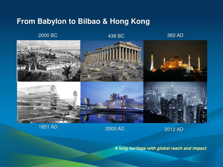 From Babylon to Bilbao & Hong Kong