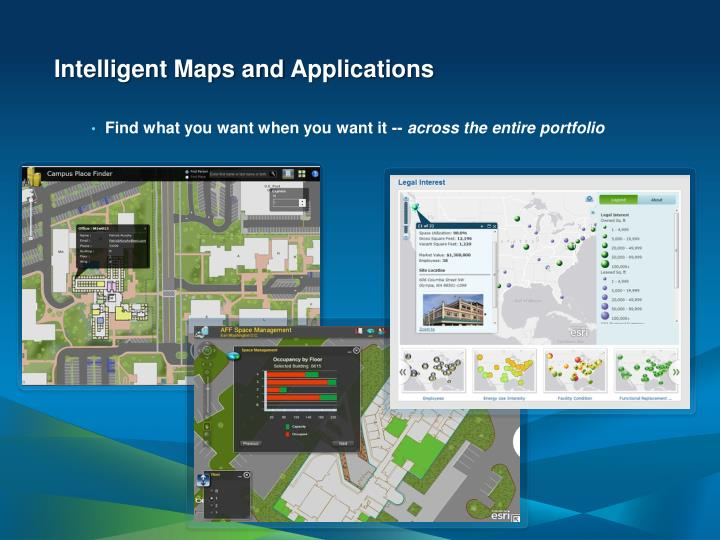 Intelligent Maps and