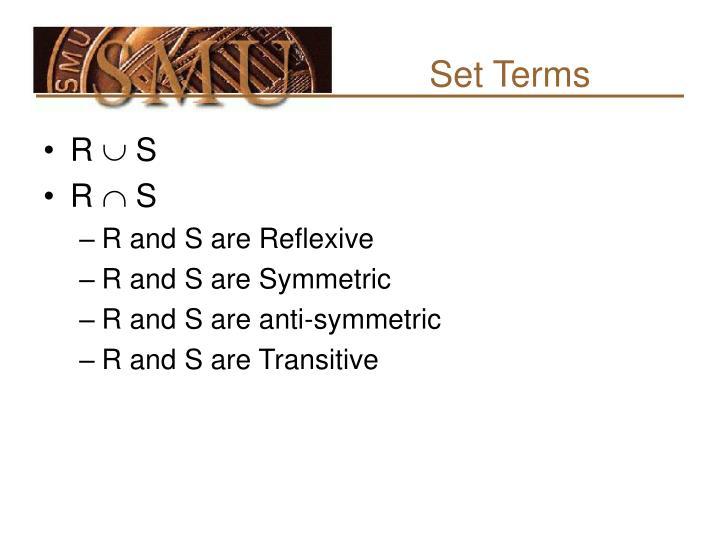 Set Terms