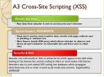 a3 cross site scripting xss
