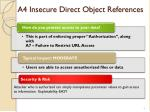 a4 insecure direct object references