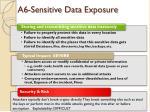 a6 sensitive data exposure