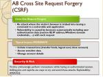 a8 cross site request forgery csrf