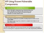 a9 using known vulnerable components