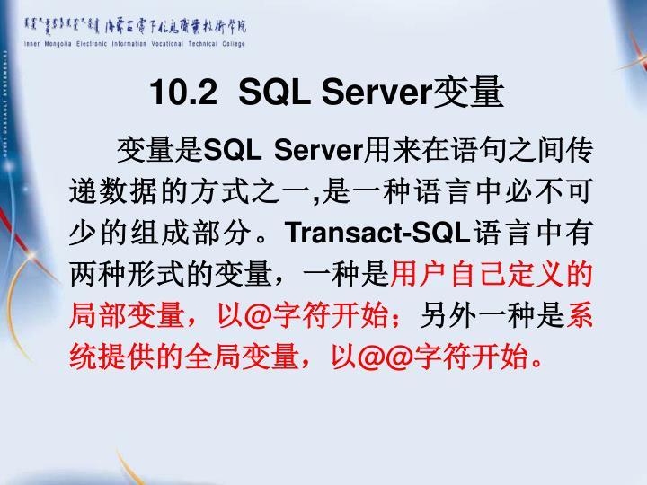 10.2  SQL Server