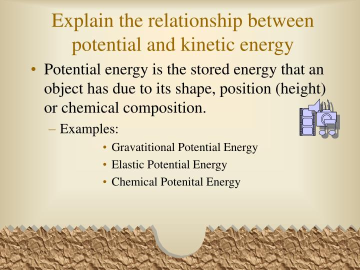 potential energy and kinetic relationship to speed