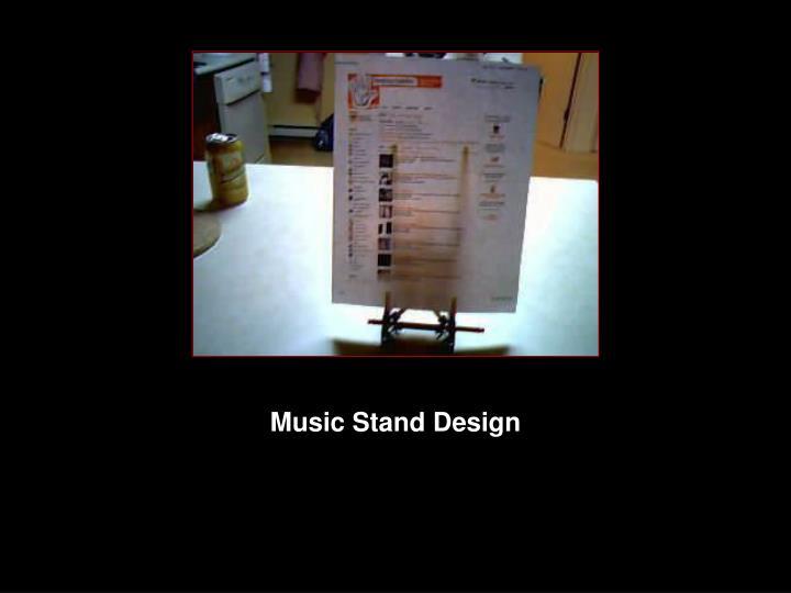 Music Stand Design