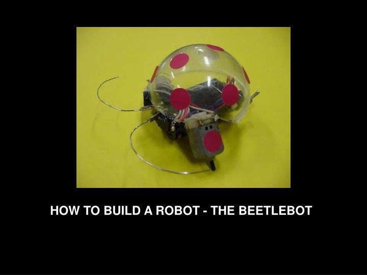 HOW TO BUILD A ROBOT - THE BEETLEBOT
