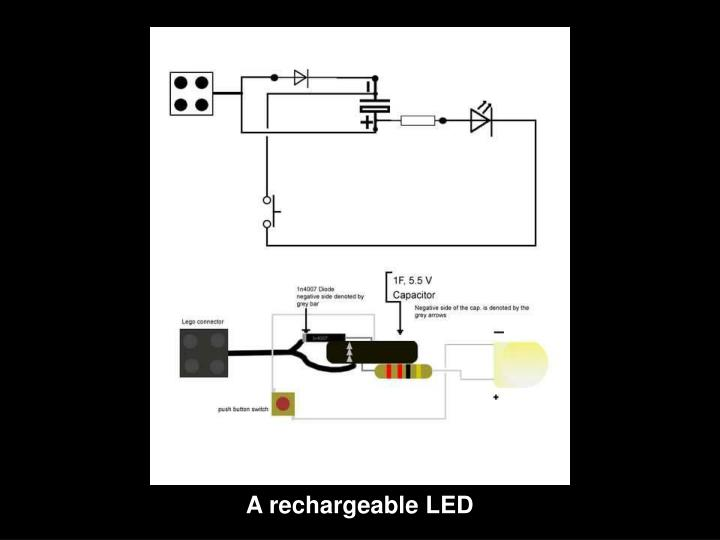 A rechargeable LED