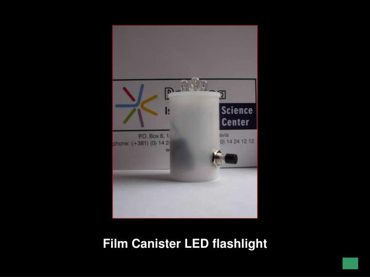 Film Canister LED flashlight
