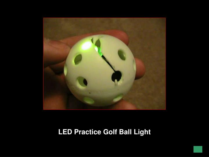 LED Practice Golf Ball Light