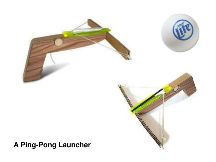A Ping-Pong Launcher