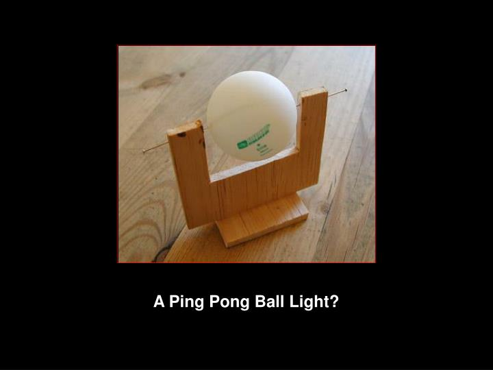 A Ping Pong Ball Light?