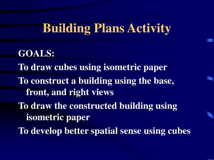 Building Plans Activity