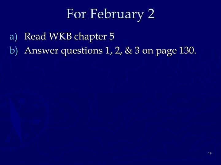For February 2