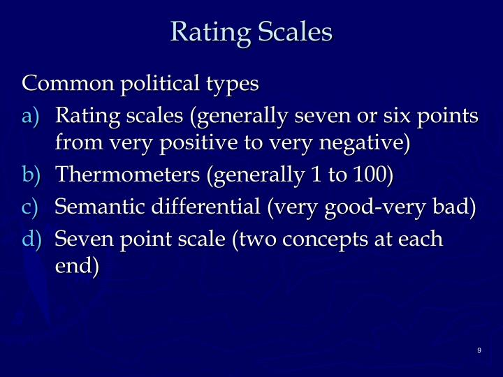 Rating Scales